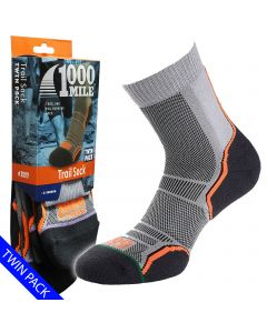 1000 Mile Trail Socks | Twin Pack | - Mens