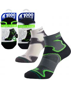 1000 Mile Fusion Anklet Socks - Mens