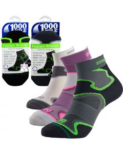 1000 Mile Fusion Anklet Socks - Womens