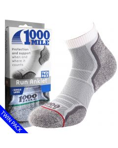 1000 Mile Run Anlet Socks | Twin Pack | - Mens