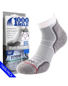 1000 Mile Run Anlet Socks | Twin Pack | - Womens