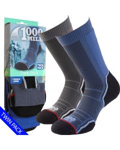 1000 Mile Trek Socks | Twin Pack | - Mens