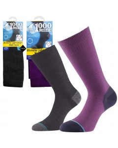 1000 Mile Lightweight Walking Socks - Womens