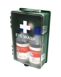 Blue Lion 500ml Double Eye Wash Case - Wall Mountable