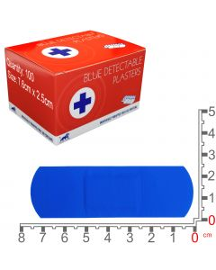 Blue Lion Blue Detectable Plasters | Medium | 100 Pack