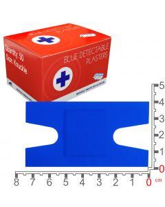 Blue Lion Blue Detectable Plasters | Knuckle | 50 Pack