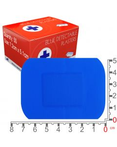 Blue Lion Blue Detectable Plasters | Large | 50 Pack