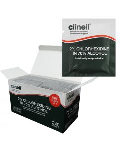 Clinell 2% Chlorhexidine with Alcohol Sachets - Equipment