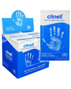 Clinell Antibacterial Individual Hand Wipes