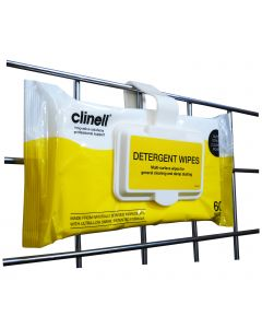 Clinell Detergent Wipes - Bedside Clip Pack