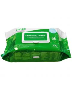 Clinell Universal Hands & Surface Wipes - 100 Pack