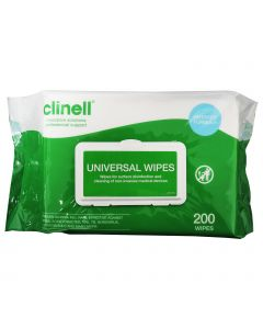 Clinell Universal Wipes - Single Pack (200 Wipes)