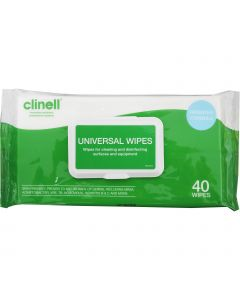 Clinell Universal Wipes - Single Pack (40 Wipes)