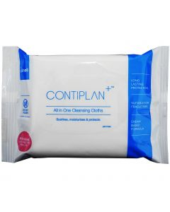 Clinell Contiplan Cleansing Wipes - 8 Cloth Pack