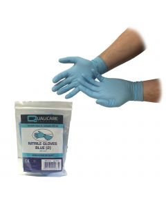 Qualicare - Blue Nitrile Gloves - Individually Packed