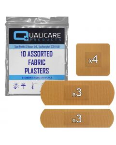 Qualicare Plasters - Fabric - 10 Pack Assorted