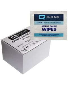 Qualicare Sterile Saline Cleansing Wipes - 100 Pack