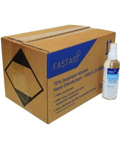 Full Box 24 Bottles - FAST AID Hand & Surface Sanitiser Spray - 100ml