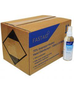 Full Box 24 Bottles - FAST AID Hand & Surface Sanitiser Spray - 100ml
