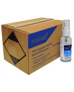 Full Box 24 Bottles - FAST AID Hand & Surface Sanitiser Spray - 50ml
