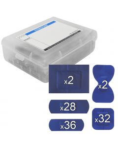 Sterochef Blue Catering Plasters | 100 Pack Assorted + Plastic Case