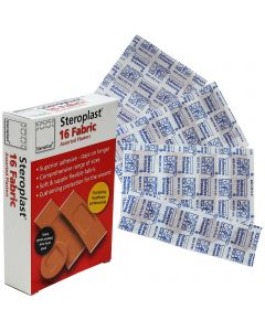 Steroplast Fabric Assortment Box | 16 Plaster Pack