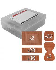 Steroflex Premium Fabric Plasters | 100 Pack Assorted + Plastic Case
