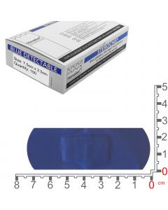Sterochef Blue Catering Plasters | 7.5cm x 2.5cm | 100 Pack