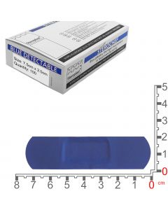 Sterochef Blue Catering Plasters   7.5cm x 2cm   100 Pack