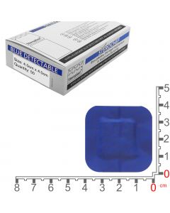 Sterochef Blue Catering Plasters | 4cm x 4cm | 50 Pack