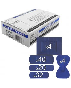 Sterochef Blue Catering Plasters | 100 Pack Assorted