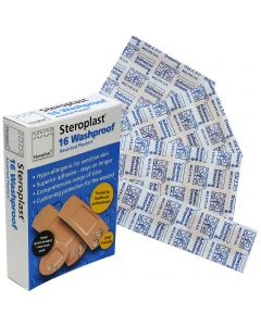 Steroplast Washproof Assortment Box | 16 Plaster Pack