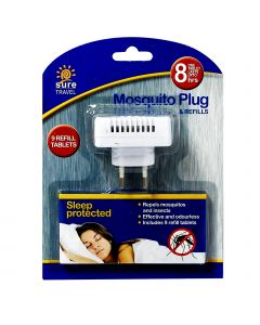 Sure Travel Mosquito Plug + 9 Refills